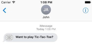 iOS iMessage App first message received