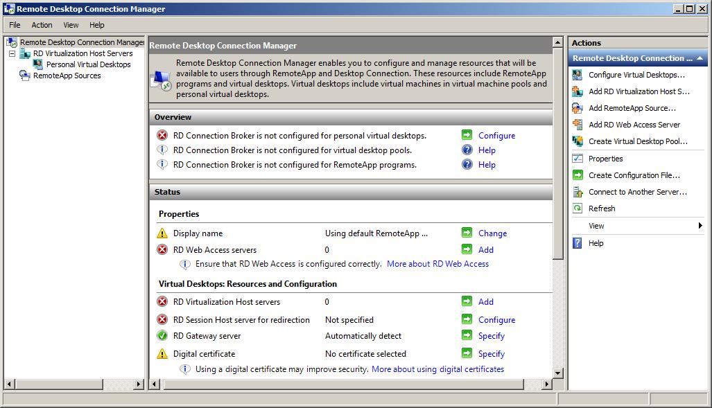 The Windows Server 2008 R2 RD Connection Manager Tool