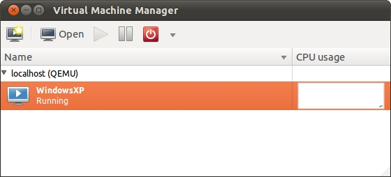 A guest listed as running the Ubuntu 11.04 virt-manager tool