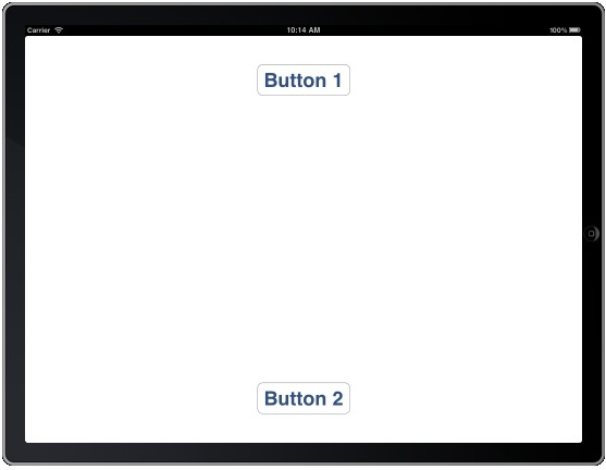 An iPad layout with autosizing enabled