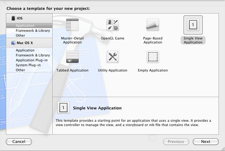 Xcode 4.3 project templates for iOS 5 applications