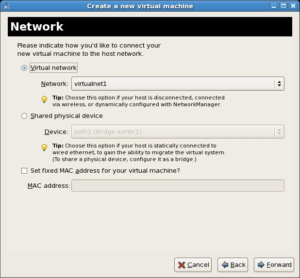 Assigning a new virtual network to an existing RHEL Xen virtual machine