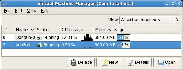 Xen VM memory percentage usage