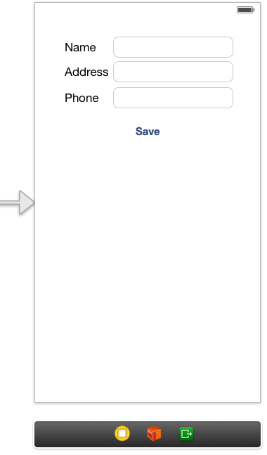 The user interface for an iOS 7 Archive example app