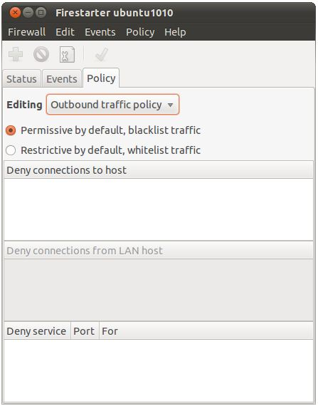 Ubuntu 10.10 Firestarter policy