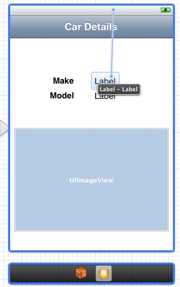Connecting table view storyboard objects to outlets