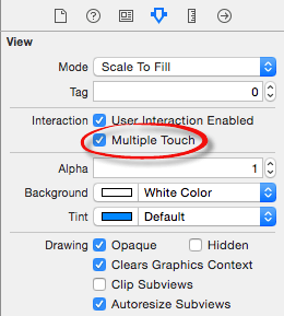 Xcode 6 enable muliple touch.png