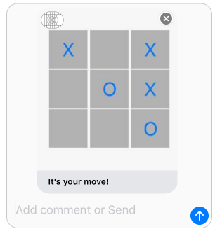 iOS interactive iOS message app completed