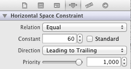 Xcode iOS 6 Constraint Attributes