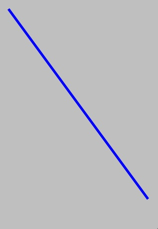A line drawn on a iPhone using Quartz 2D