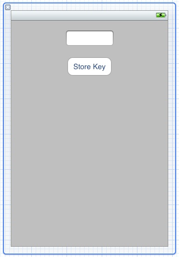 The user interface for an example iOS 5 iPhone iCloud key-value application