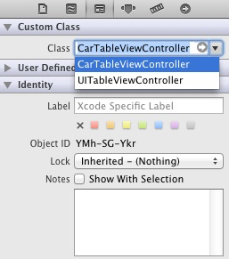 Changing the class of an object in Xcode