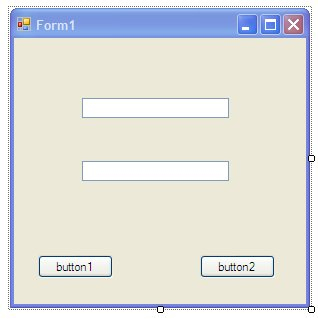 A Sample Windows Form with Buttons and TextFields
