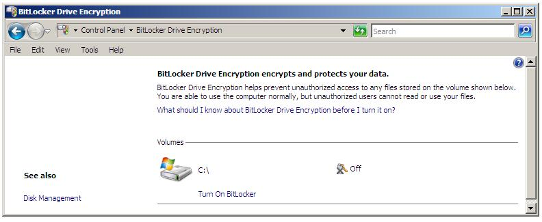 Configuring BitLocker Drive Encryption on Windows Server