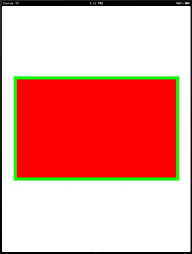 Rectange with border on an iPad