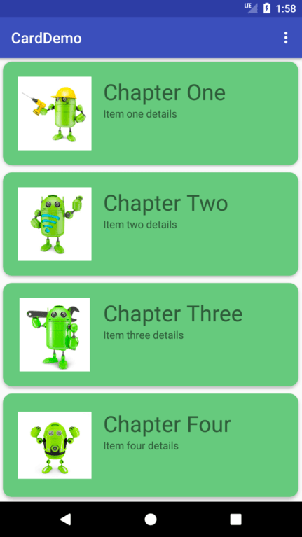 An Android RecyclerView and CardView Tutorial - Techotopia