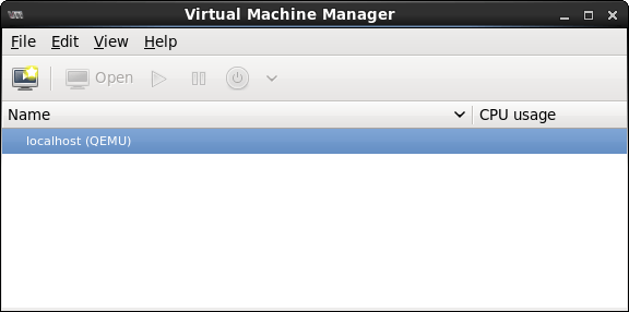 The CentOS 6 virt-manager