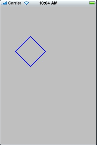 A path drawn using multiple straight lines