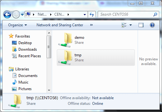 Sharing Files between CentOS 6 and Windows Systems with