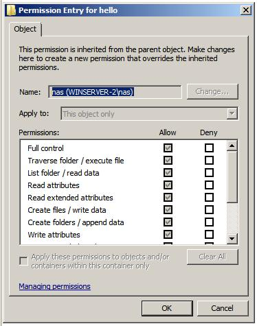 Editing the special permissions of a file or folder