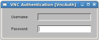 VNC Viewer on CentOS prompting for remote desktop access password