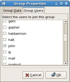 Adding a user to an RHEL Group