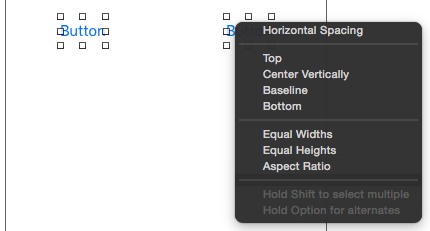 Setting a spacing constraint in Xcode