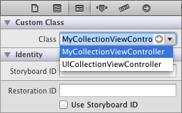 Changing the class of a CollectionViewController instance