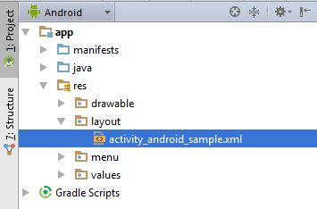 The Android Studio Project tool window