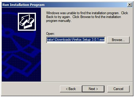 Installing an application on Windows Server 2008 Terminal Server