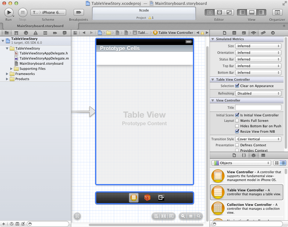 Using xcode storyboards to build dynamic tableviews with for Xcode 6 tableview