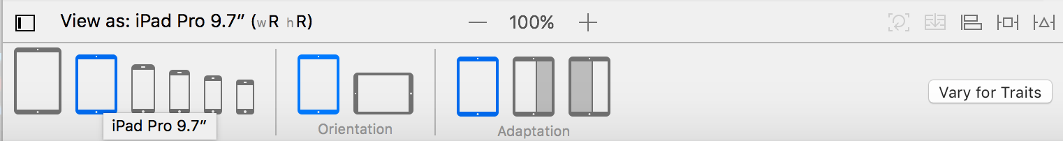 Using Trait Variations to Design Adaptive iOS User Interfaces