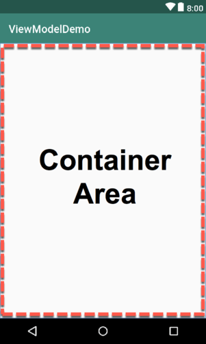 Android studio view model container area.png