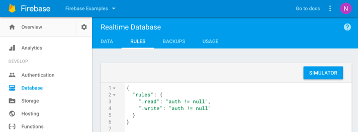 Firebase database example rules.png