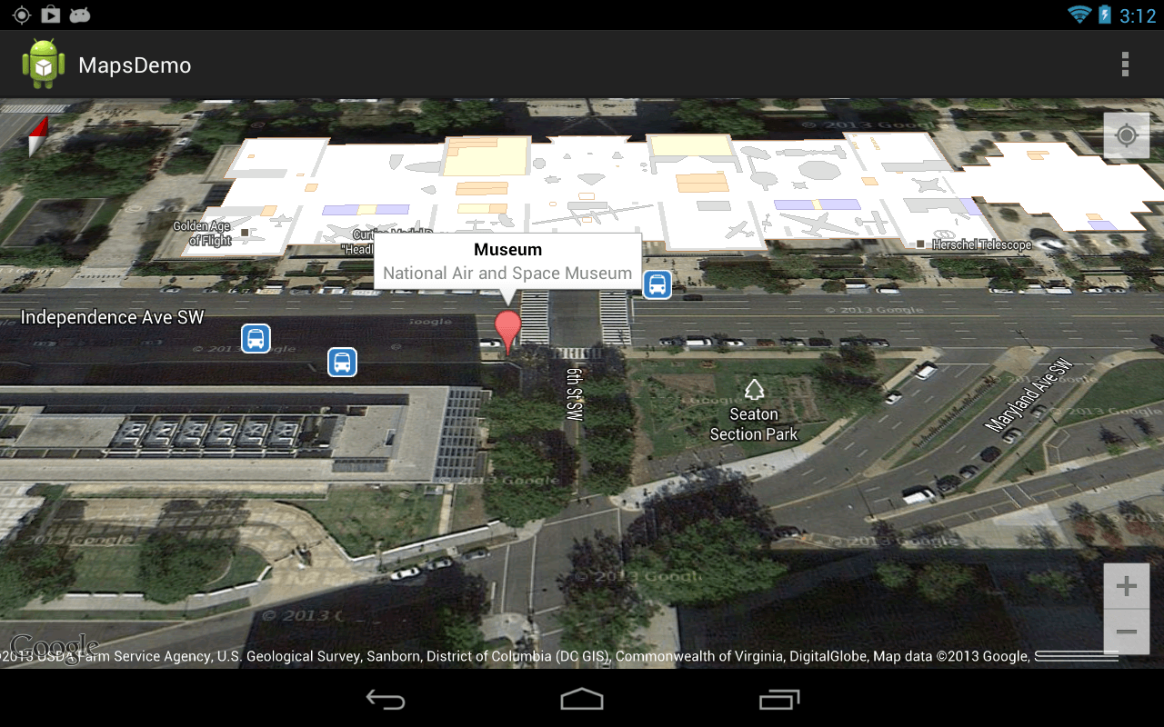 An example Android app using Google Maps