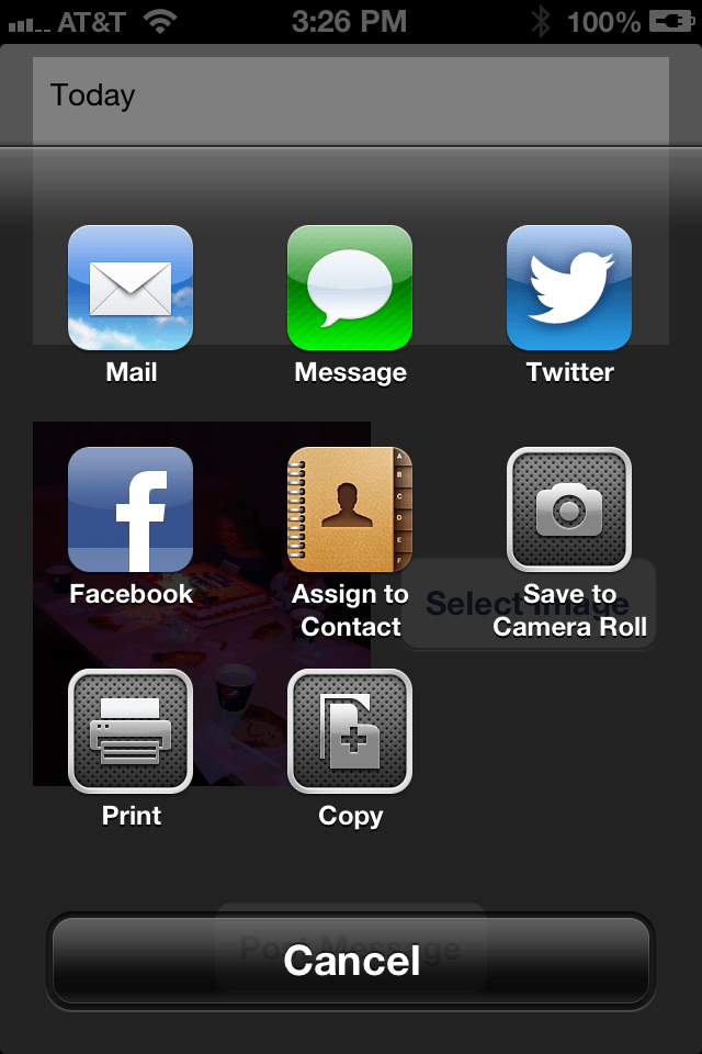 iPhone iOS 6 Facebook app social network selection