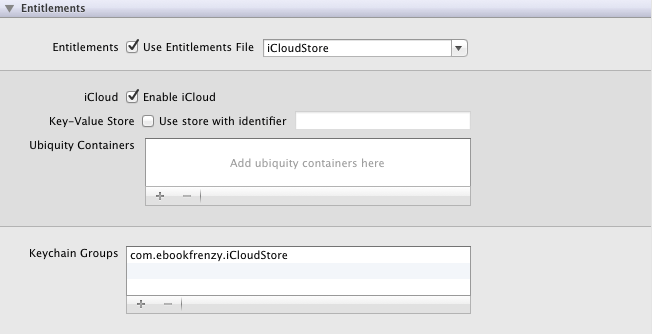 Enablinf iCloud for an iOS 6 application