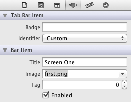 Configuring the Image on a Tab Bar Item