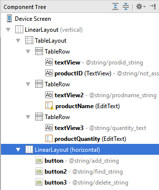 Android studio tablelayout tree 4 1.4.png