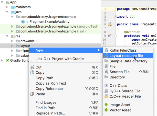 Using Fragments in Android Studio - An Example - Techotopia