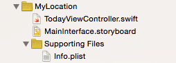 Ios 8 extension project files.png