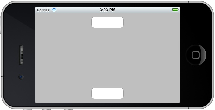 iPhone iOS 5 autosizing example running