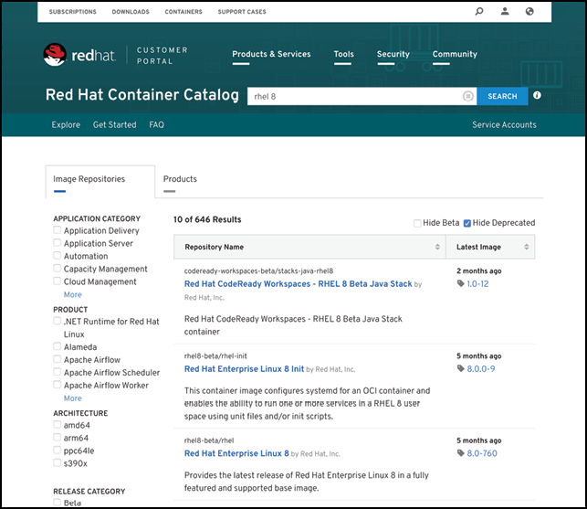 Rhel 8 container catalog.png
