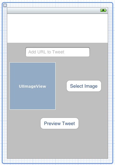 The user interface design of the example iOS 5 iPhone Twitter app