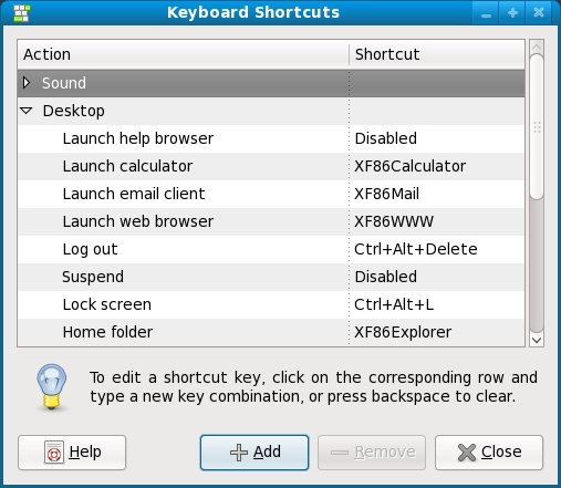 Configuring keyboard shortcuts in Fedora