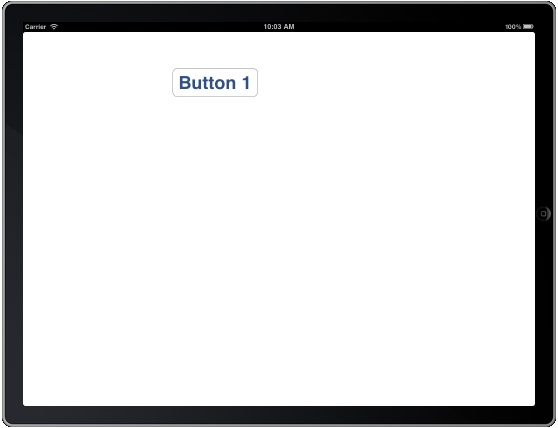 The effects of rotation on an iPad without autosizing