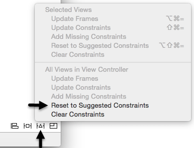 Setting layout constraints
