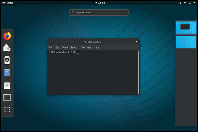 Rhel 8 gnome workspace panel.png