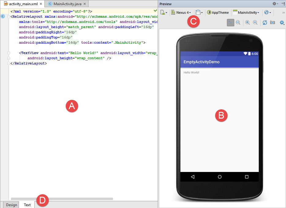 A Guide to the Android Studio Designer Tool - Android 6 - Techotopia