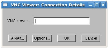VNC viewer on CentOS prompting for connection details